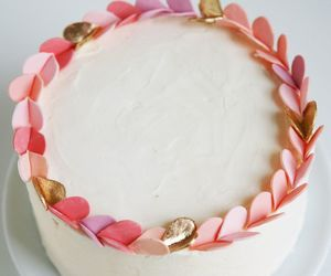 cake, pink, and hearts image