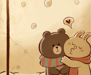 love, bear, and line image