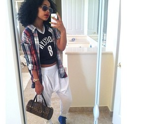 curly hair, fashion, and Louis Vuitton image