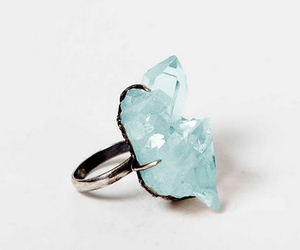 ring, crystal, and stone image