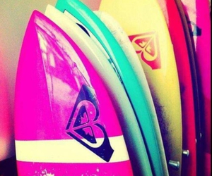 surf, roxy, and surfboard image
