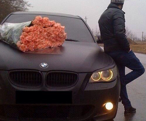 car, fashion, and flowers image