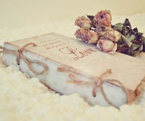 book, love, and rose image