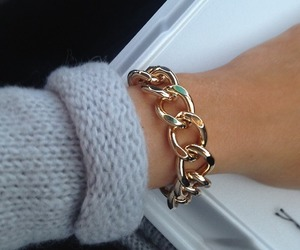 accesories, bracelet, and gold image