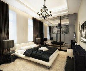 bedroom, luxury, and black image