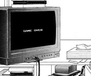 anime, tv, and game over image