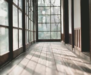window, wood, and light image