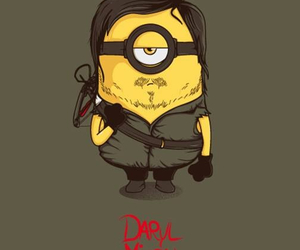 twd, daryl, and minions image