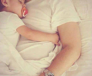 baby, father, and love image