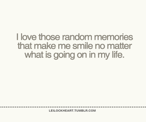 life, memories, and smile image