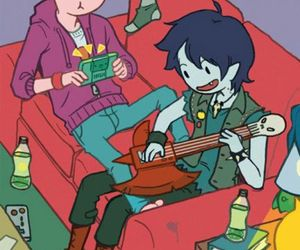 adventure time, prince gumball, and marshall lee image