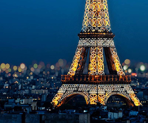city, france, and lights image
