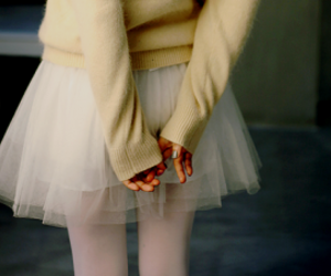 girl, ballet, and skirt image