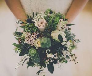 bride, flower, and flowers image