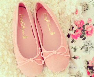 pink, shoes, and girly image