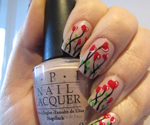hearts, manicure, and nail art image