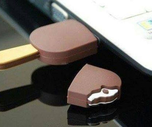 chocolate and pendrive ice cream image
