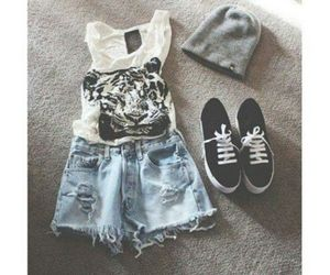 cool, short, and outfit image