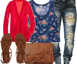fashion, floral, and spring image