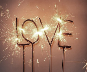love, fireworks, and light image