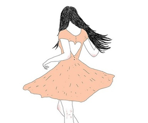drawing, girl, and dress image