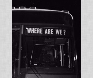 b&w, bus, and feeling image