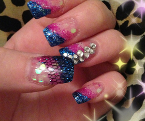 diamonds, gel, and nails image