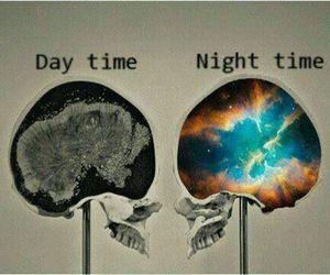 night, day, and brain image