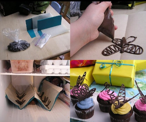 chocolate, cupcakes, and sweety image