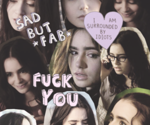 collages, movie, and lily collins image