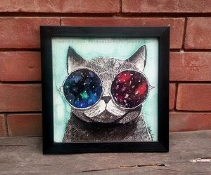 cat, galaxy, and infinity image