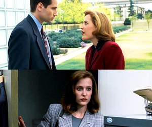 dana scully, fbi, and gillian anderson image