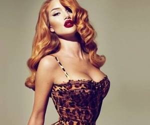 sexy, model, and red lips image