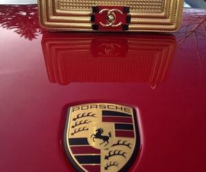 chanel, porsche, and red image