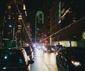 city, cars, and lights image
