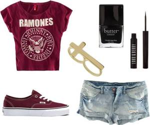 ramones, outfit, and vans image