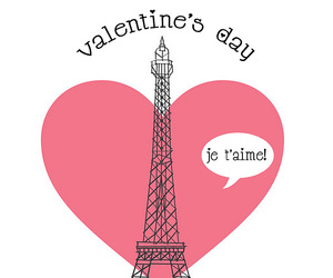 heart, paris, and tower image