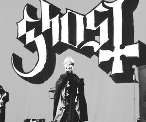 black n white, concert, and ghost image