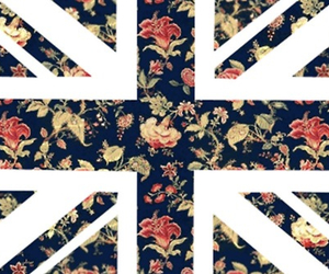 flowers, british, and flag image