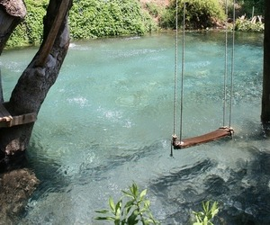 swing, water, and nature image