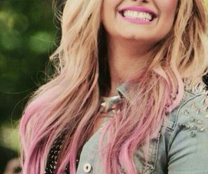 pink, demilovato, and neonlights image
