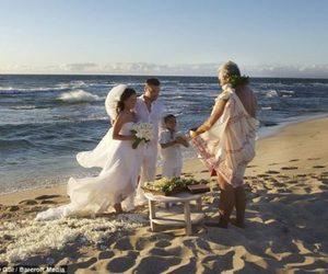 wedding, beach, and megan fox image