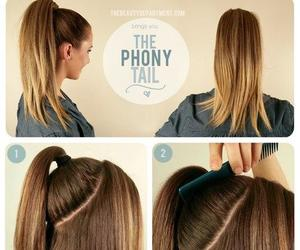 diy, Easy, and pony tail image