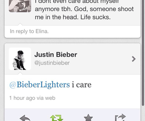 justin bieber, twitter, and love image