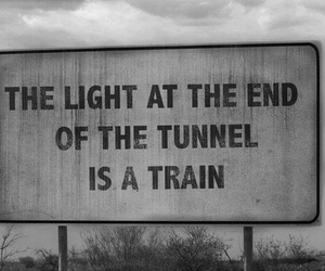 train, light, and tunnel image