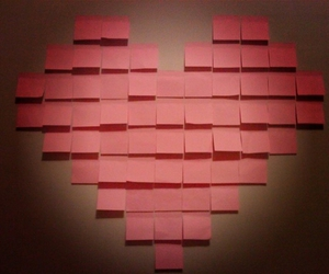 love, heart, and note image