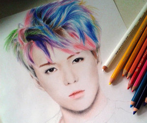 drawing, exo, and sehun image