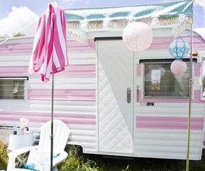 Caravan and pink image