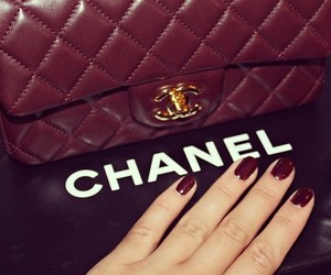 chanel, nails, and bag image