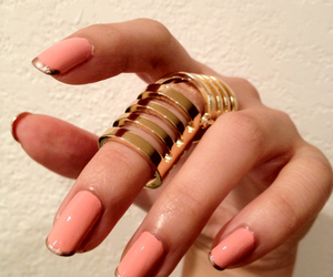 nails, ring, and gold image